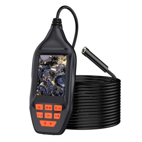 """Endoszkóp kamera, 3"""" kijelzővel, IP68 vízálló (5 méter), 8mm, HD 1080P, 8 LED-es"""