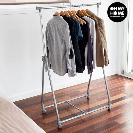 Hordozható összecsukható ruhaállvány