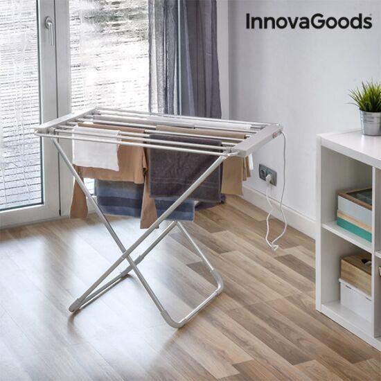 InnovaGoods elektromos ruhaszárító (6 rúd) 100W, összecsukható, szürke