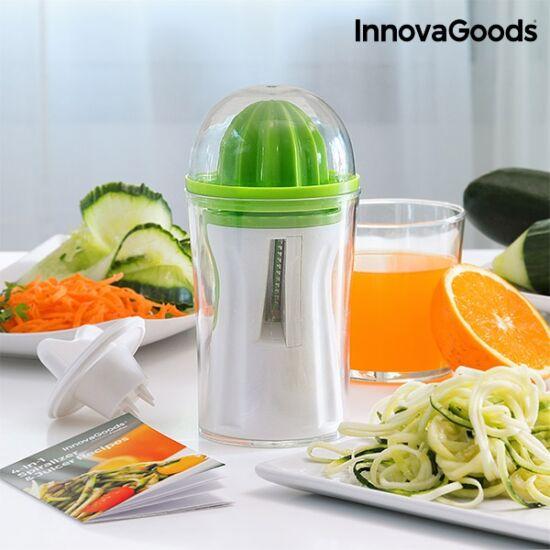 InnovaGoods 4 az 1-ben zöldségvágó és gyümölcsprés receptkönyvvel