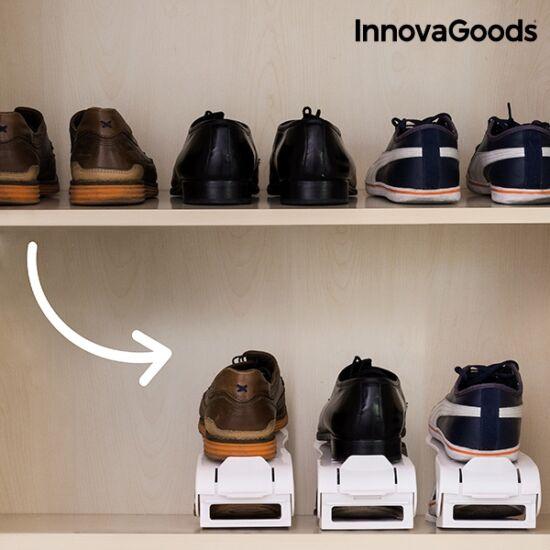 InnovaGoods állítható cipőtartó (6 pár cipőhöz)