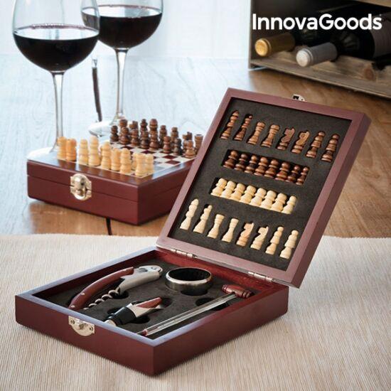 InnovaGoods borkiegészítő- és sakk-készlet (37 darabos)