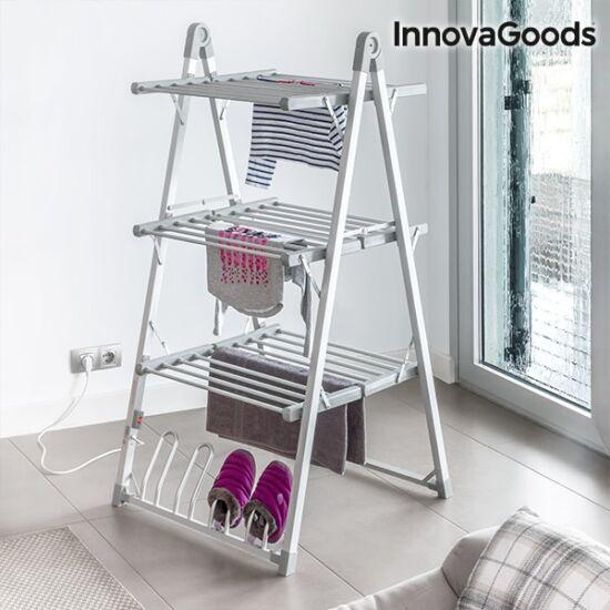 InnovaGoods Home Houseware összecsukható elektromos szárító 300W szürke (30 rudas)