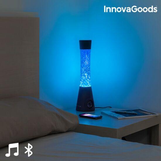 InnovaGoods LED láva lámpa Bluetooth hangszóróval és mikrofonnal 30W