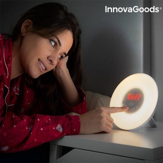InnovaGoods napkelte szimulátor ébresztő LED FM USB fehér