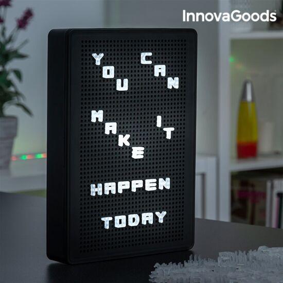 InnovaGoods perforált LED tábla betűk beillesztéséhez
