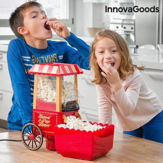 InnovaGoods Sweet & Pop Times 1200W popcorn gép piros