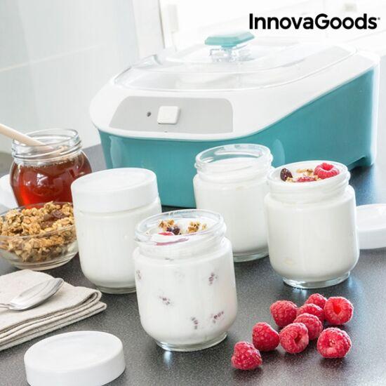 InnovaGoods Vintage joghurtkészítő 6 edénnyel 1 l 20W fehér-türkiz
