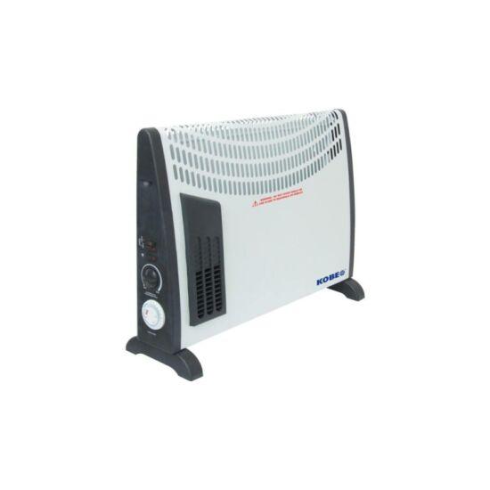 KOBE EIKO Turbo hősugárzó ventilátor időzítővel termosztáttal 750-2000W álló - fali
