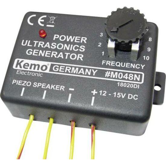 Kemo  M048 ultrahang generátor modul, 12V, max.: 25m, 10-40 kHz