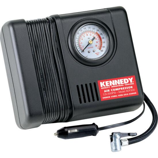 KENNEDY MINI 12V kompresszor + 4db adapter 300psi