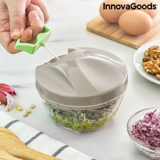 InnovaGoods kézi mini aprító húzózsinórral (SPINOP)