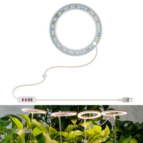 Növény nevelő LED lámpa kerek 1-es (napfény)