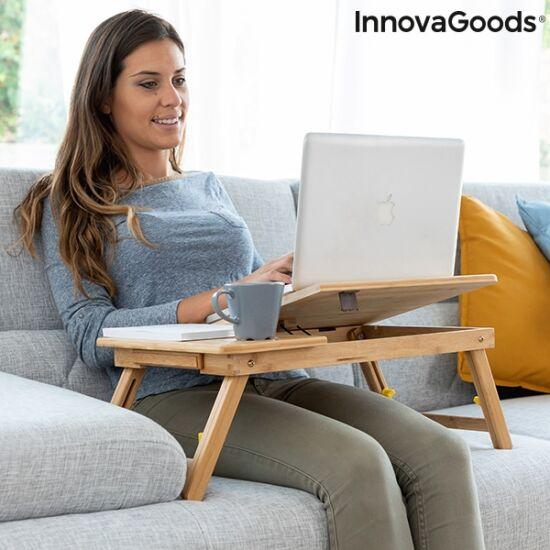 Bambusz laptop asztal, összecsukható (LAPWOOD)
