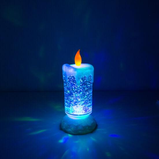 Homania Többszínű LED Gyertya Mozgó Folyadékkal és Csillámmal